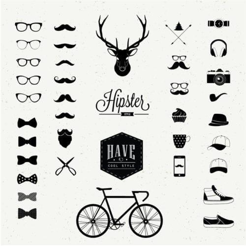 símbolos de hipsters