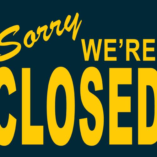 "mensaje ""sorry we're closed"""