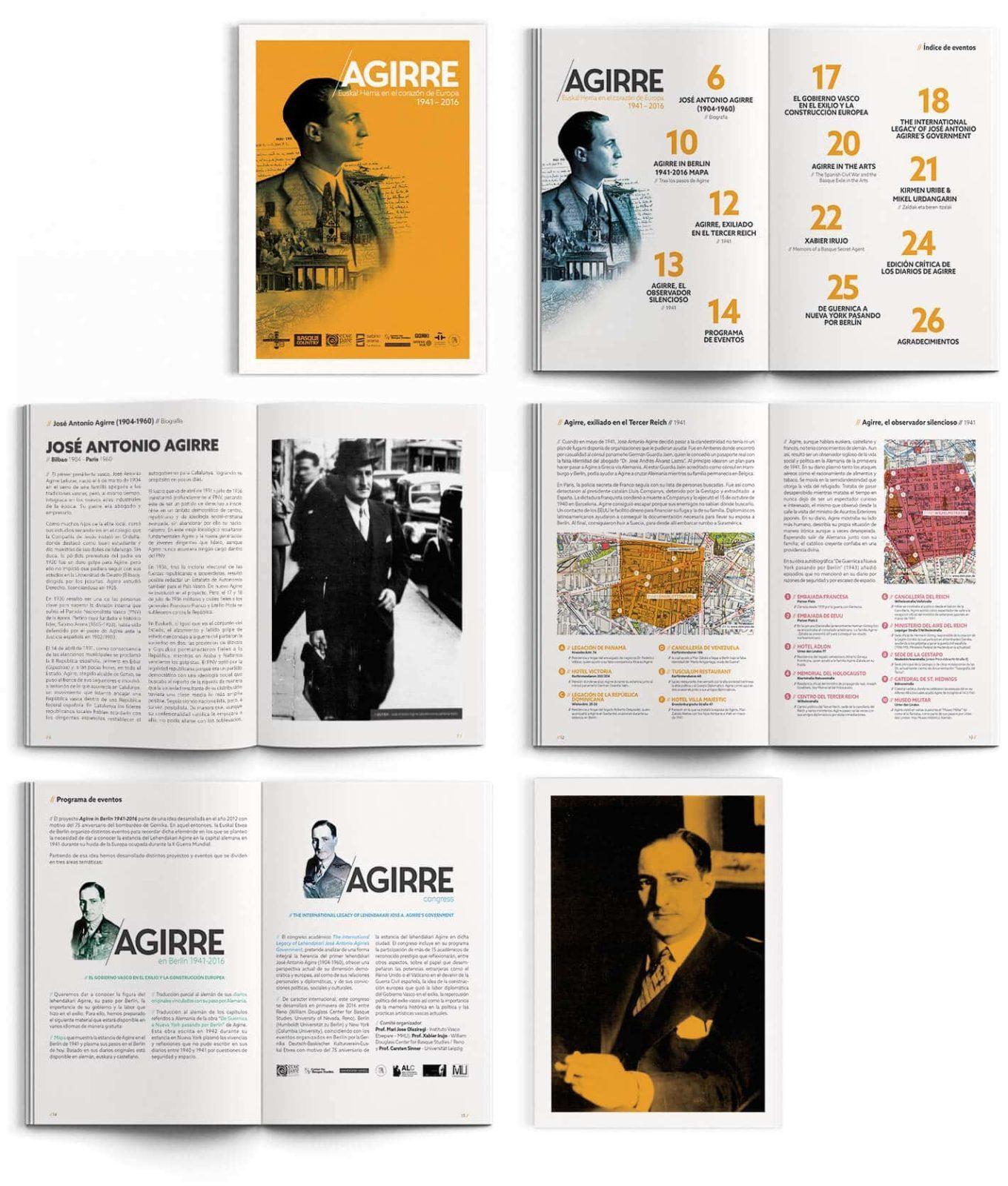 Diseño Brochure Lehendakari Agirre