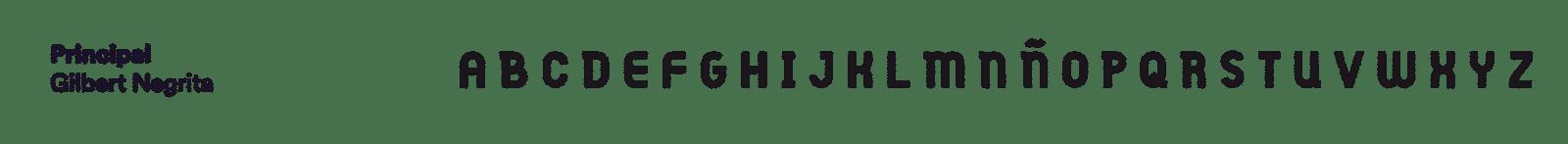 tipografía gilbert negrita