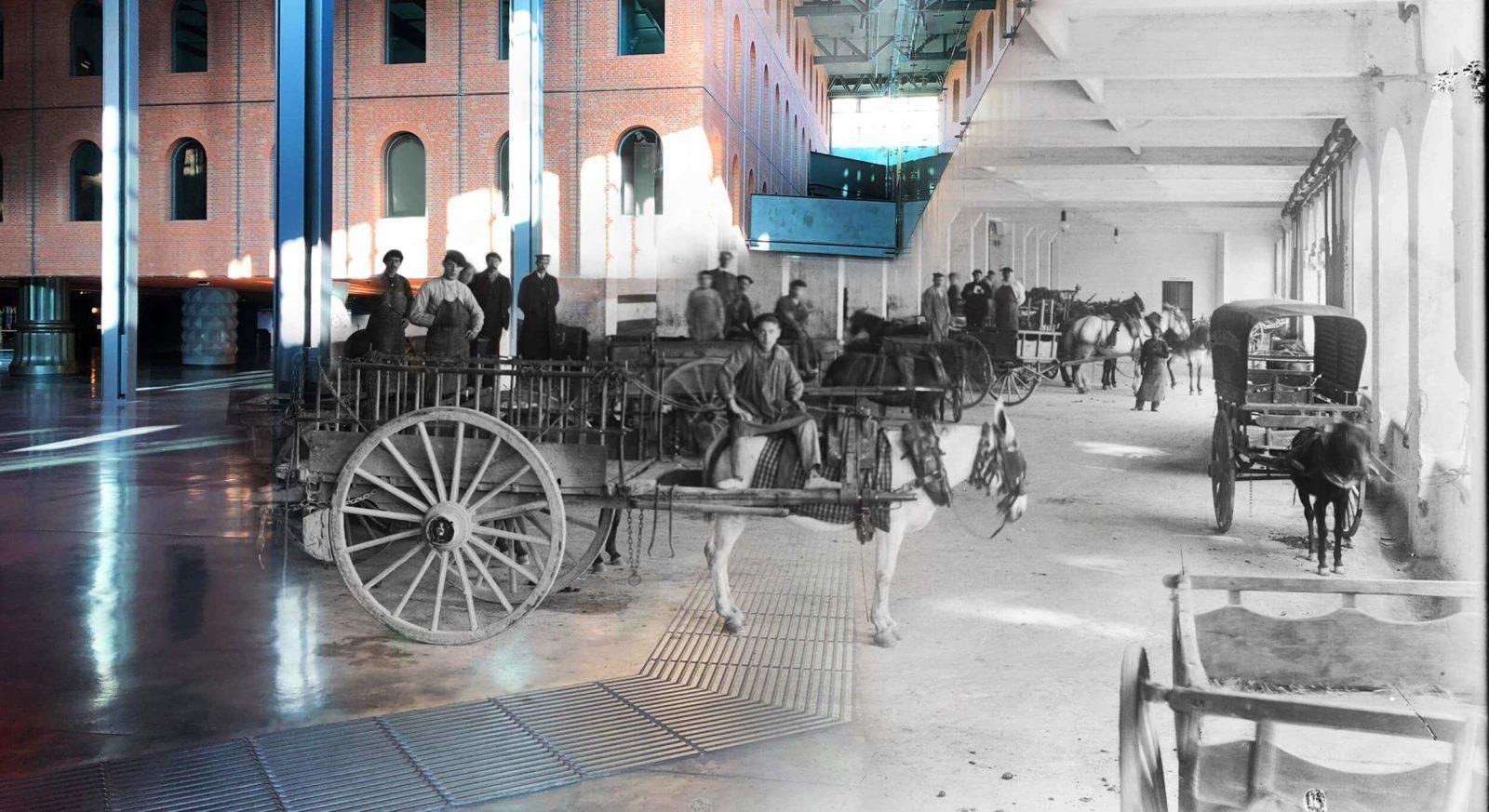 Alhóndiga antes y después