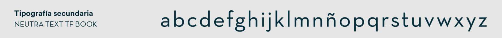 Tipografía secundaria de Magalarte Zamudio