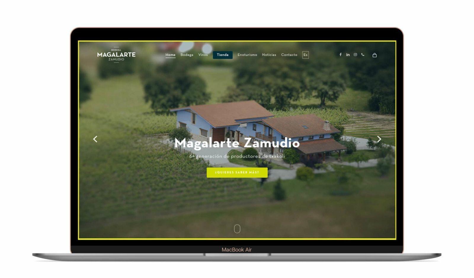 Desarrollo web de Bodega Magalarte Zamudio