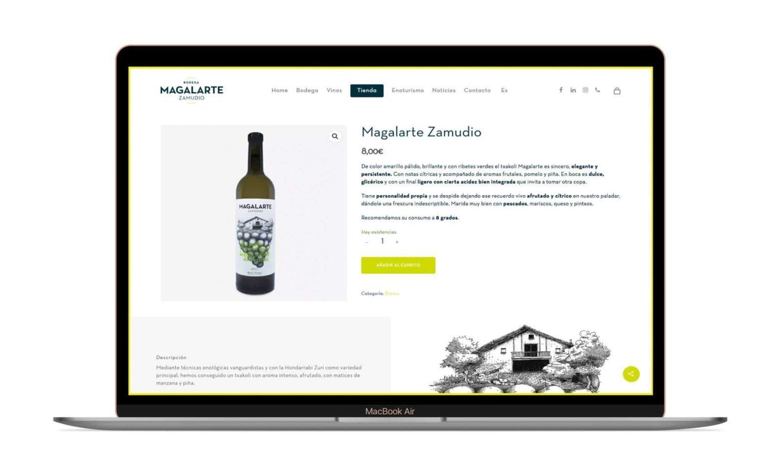 Desarrollo web de Bodera Magalarte Zamudio