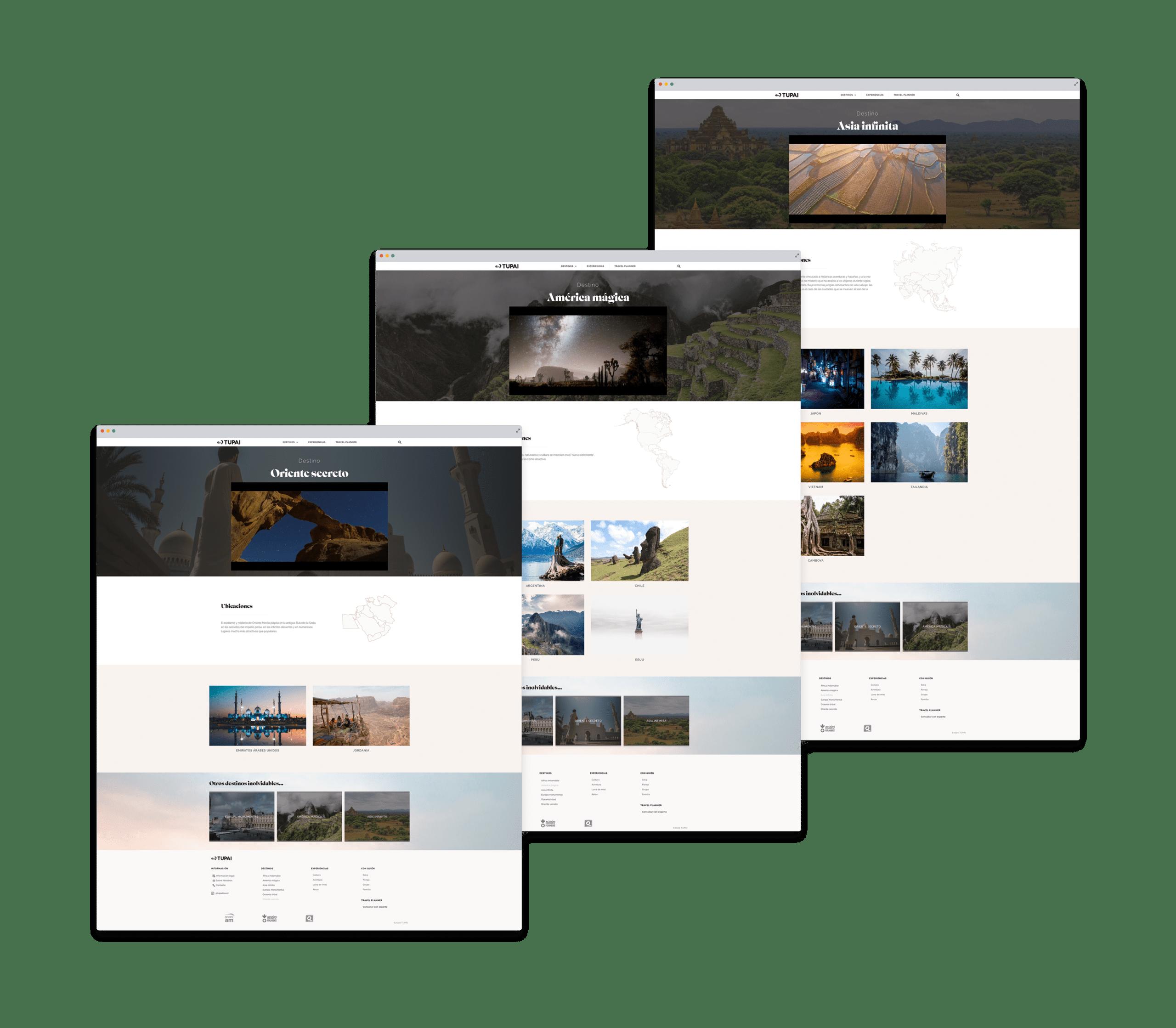 Web agencia de viajes - Tupai