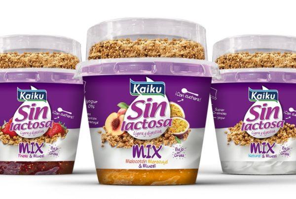 Diseño de packaging de Kaiku sin lactosa