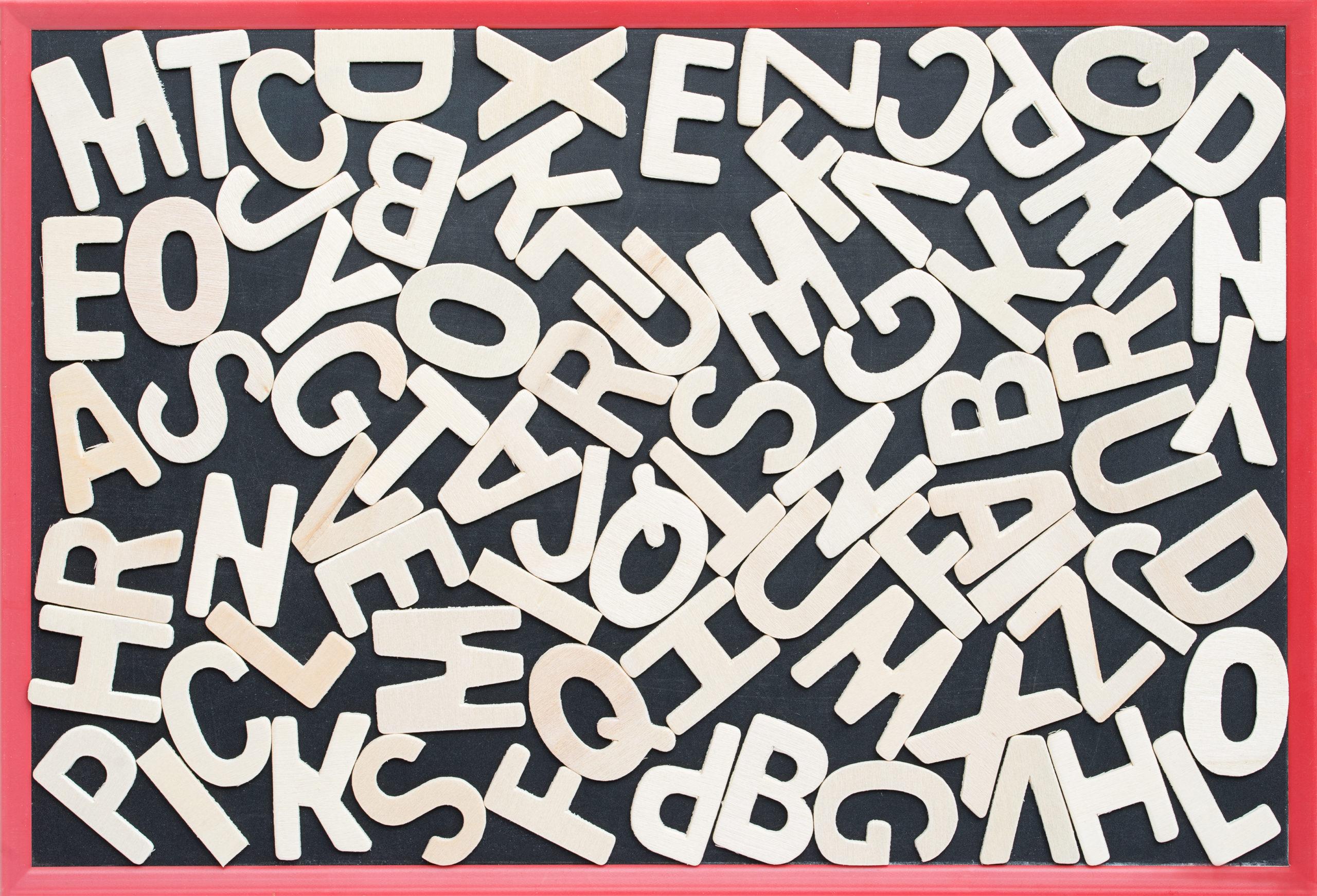 conjunto de letras desordenadas
