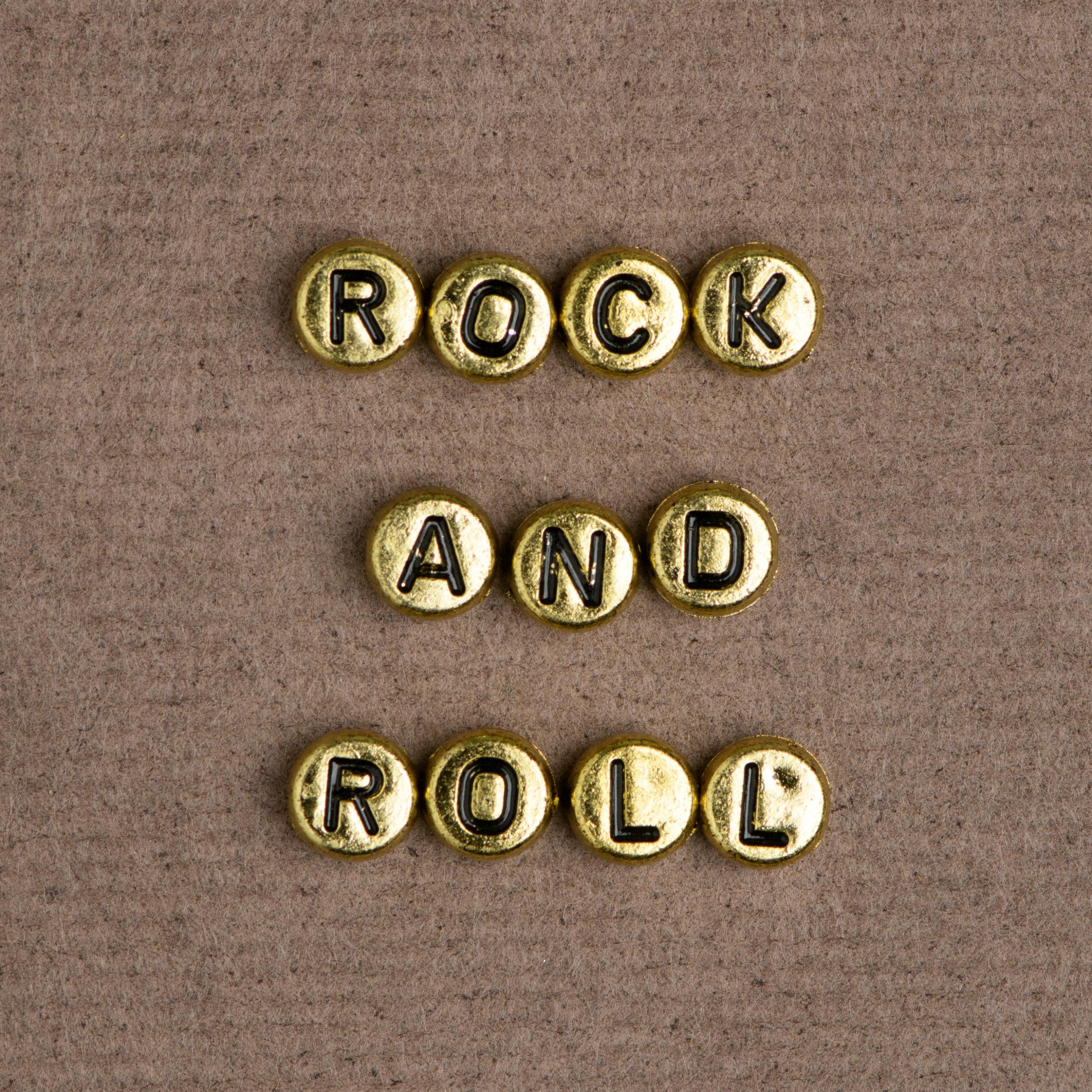 letras formando rock and roll