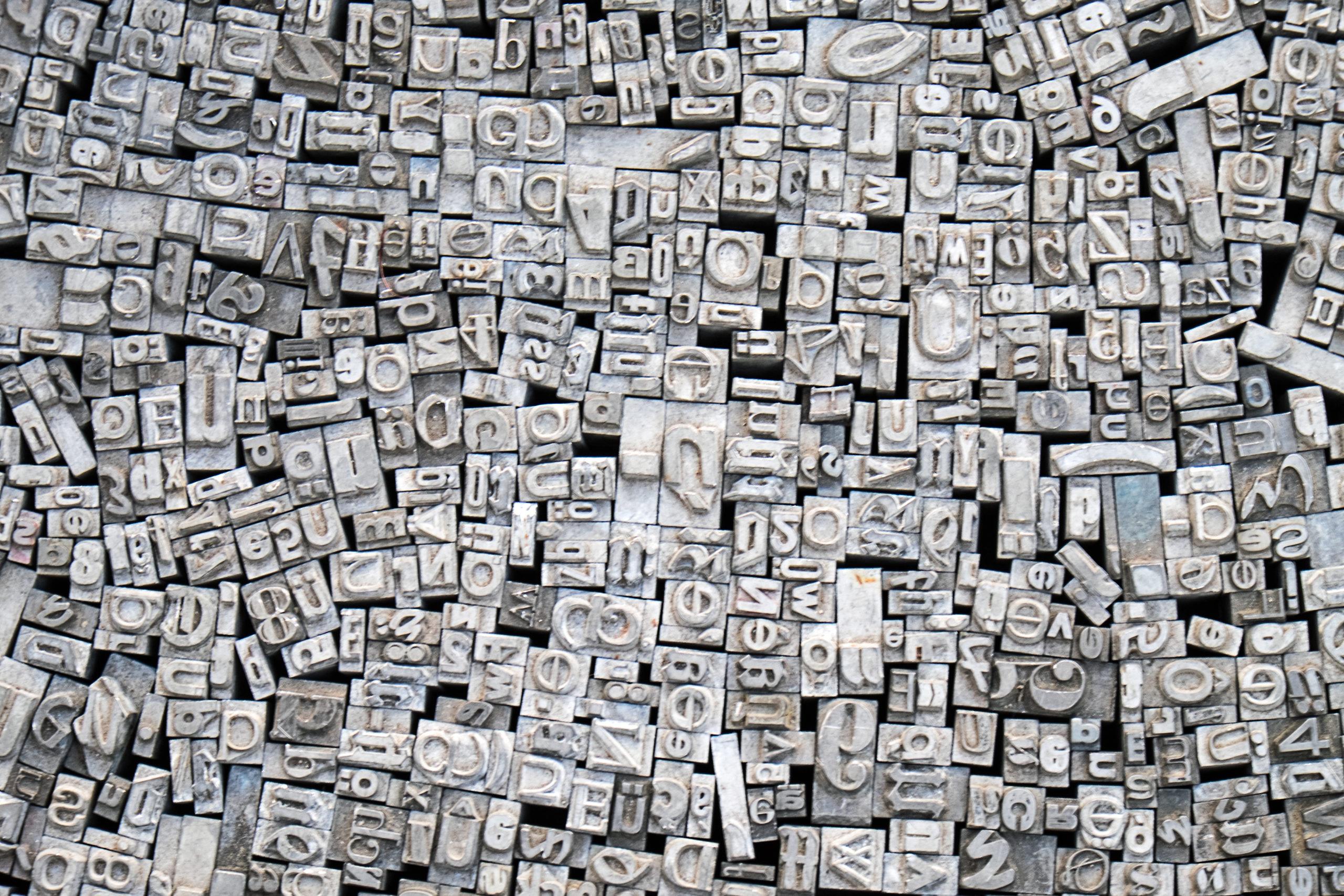 Las tipografías y la creatividad, caminos entrelazados